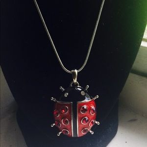 Jewelry - Spring time Ladybug necklace